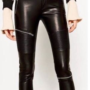 Zara faux leather Biker Pants